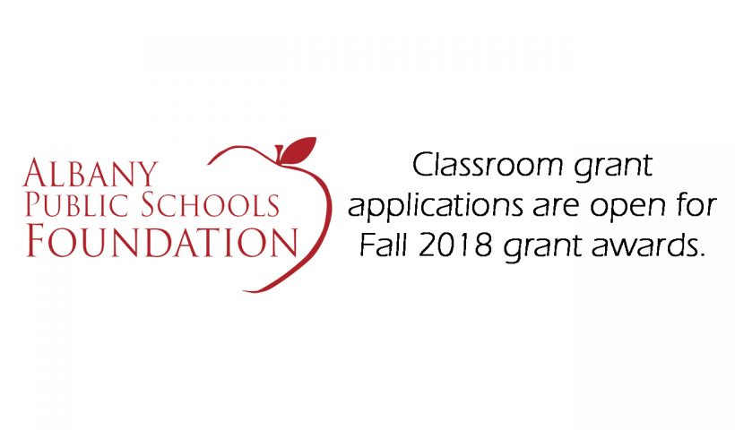 Classroom grant applications are open.