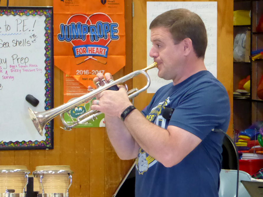 West Albany High School Jazz Band member.