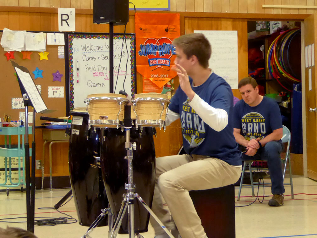 West Albany High School Jazz Band drummer.