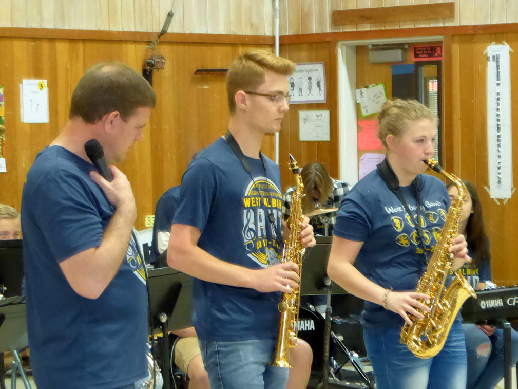 West Albany High School Jazz Band members.